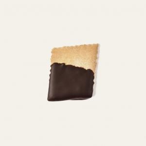 Le gallette al cioccolato nascono da un'antica ricetta. Ottimo da solo o con delle marmellate spalmate sopra. Ricoperto di cioccolato fondente 60%.