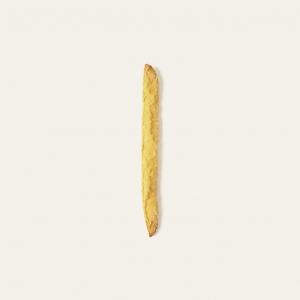 Gli originali Stiratin al mais e olio d'oliva sono di nostra creazione. Deliziano grazie all'olio di oliva e alla farina di mais finemente macinata.