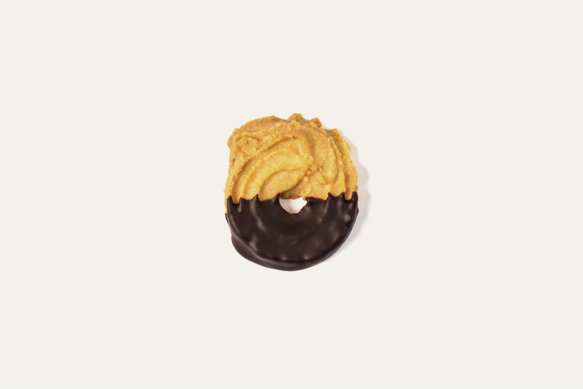 Paste di Meliga al cioccolato fondente.